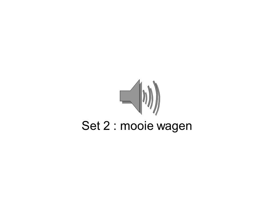 Set 2 : mooie wagen