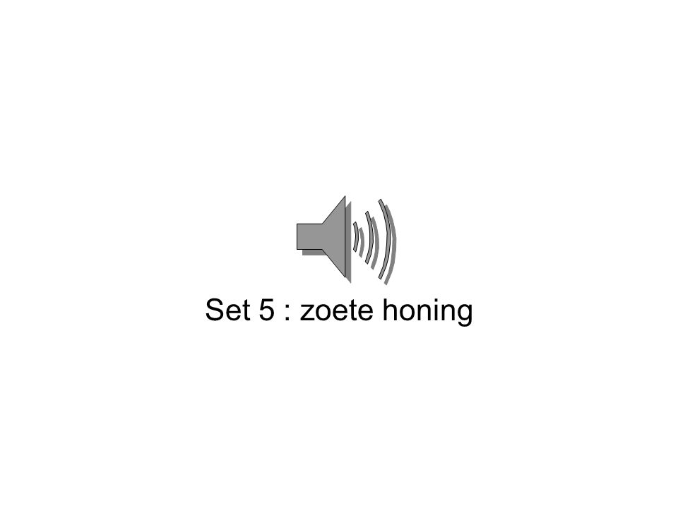 Set 5 : zoete honing