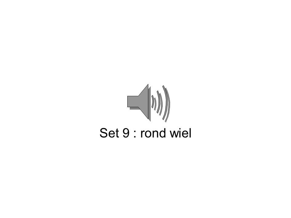 Set 9 : rond wiel