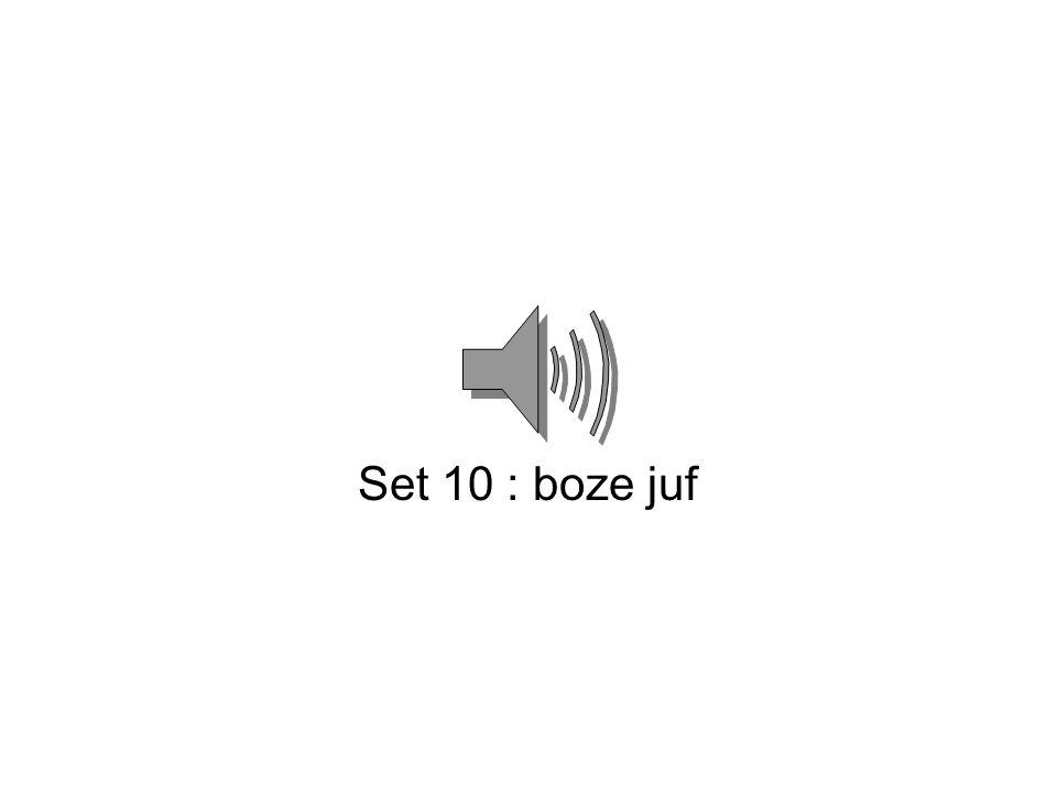 Set 10 : boze juf