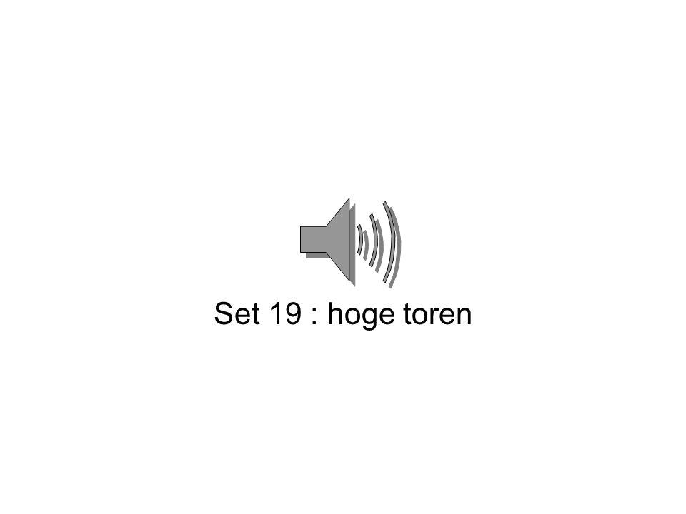 Set 19 : hoge toren
