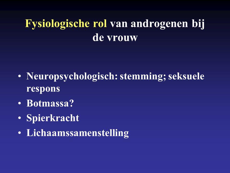 Fysiologische rol van androgenen bij de vrouw