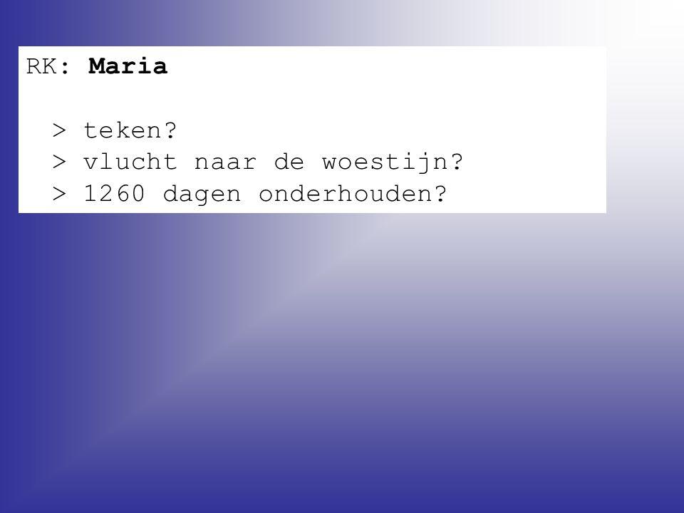 RK: Maria > teken. > vlucht naar de woestijn