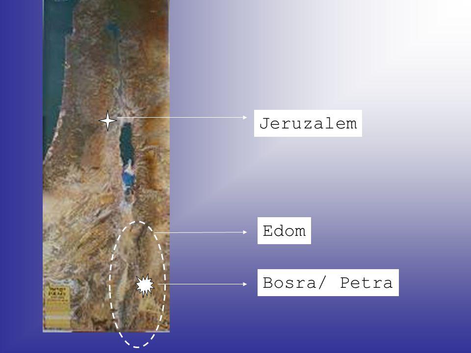 Jeruzalem Edom Bosra/ Petra