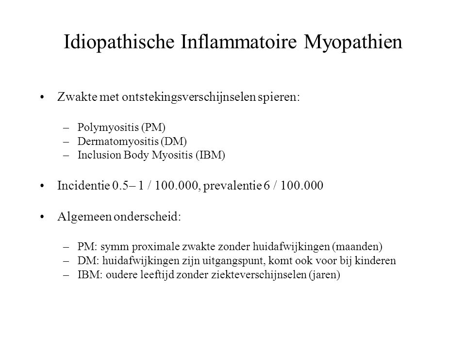Idiopathische Inflammatoire Myopathien