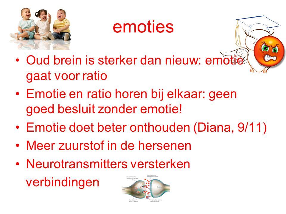 emoties Oud brein is sterker dan nieuw: emotie gaat voor ratio