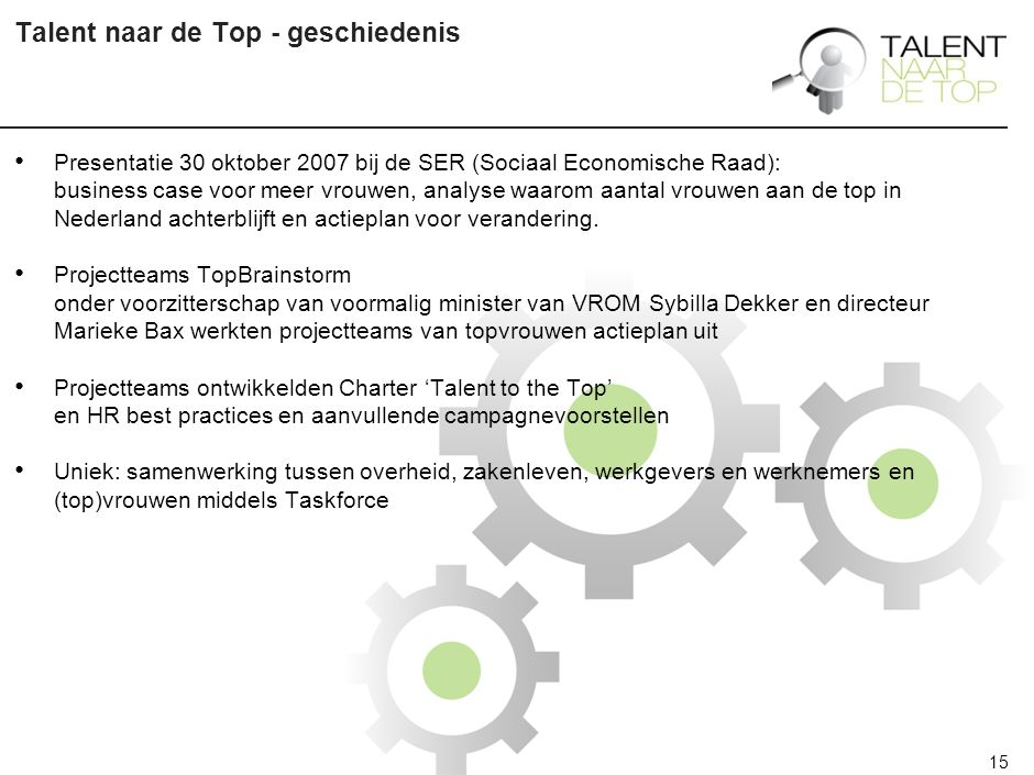 Charter Talent naar de Top