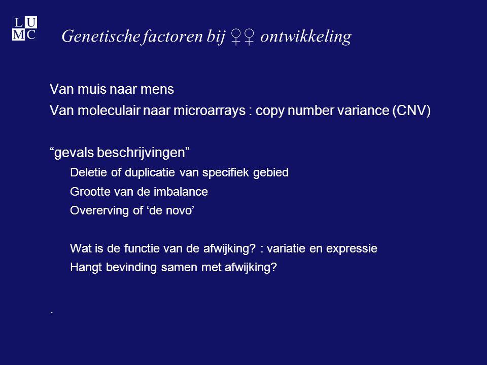 Genetische factoren bij ♀♀ ontwikkeling