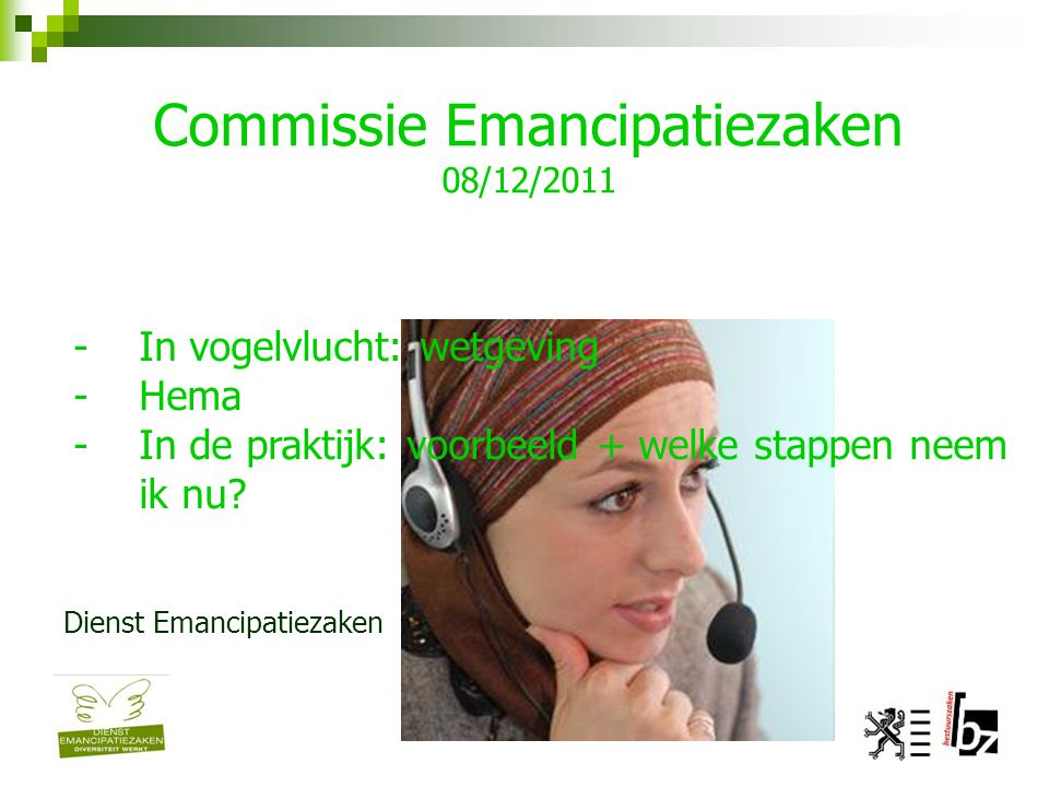 Commissie Emancipatiezaken 08/12/2011