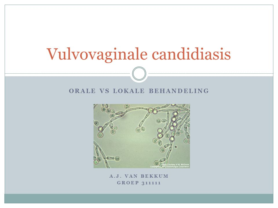 Vulvovaginale candidiasis