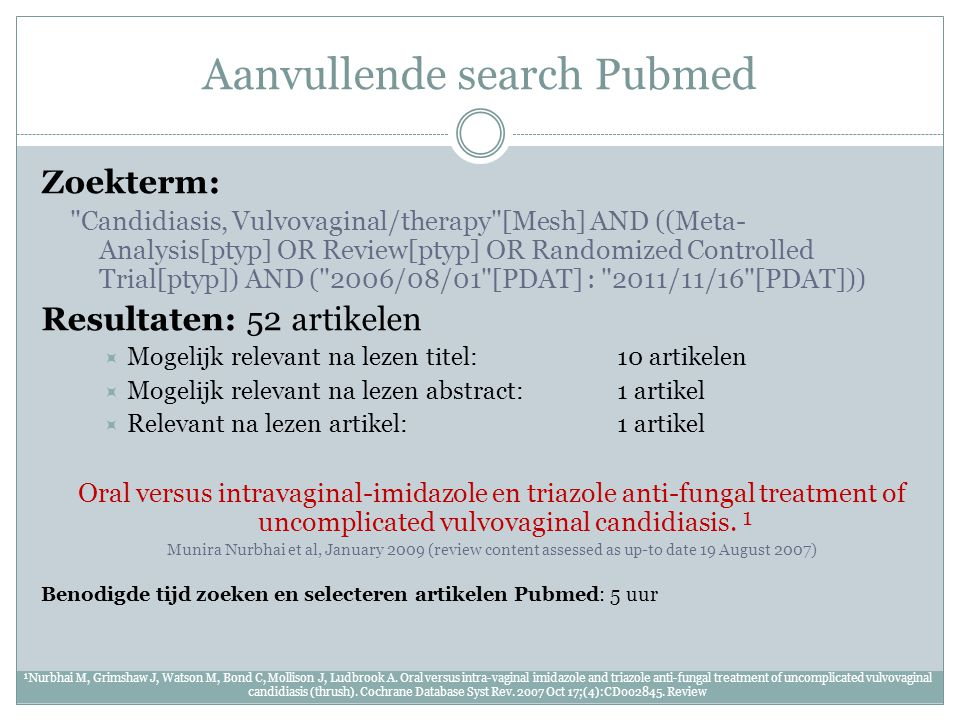 Aanvullende search Pubmed