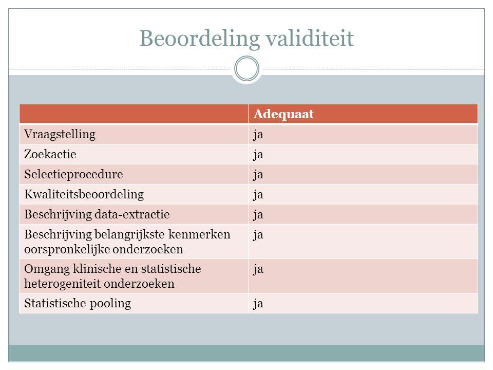 Beoordeling validiteit