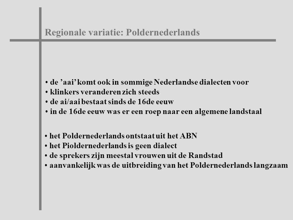 Regionale variatie: Poldernederlands