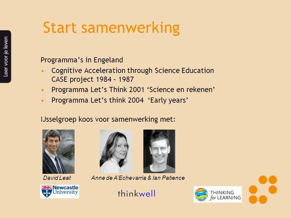 Start samenwerking Programma's in Engeland