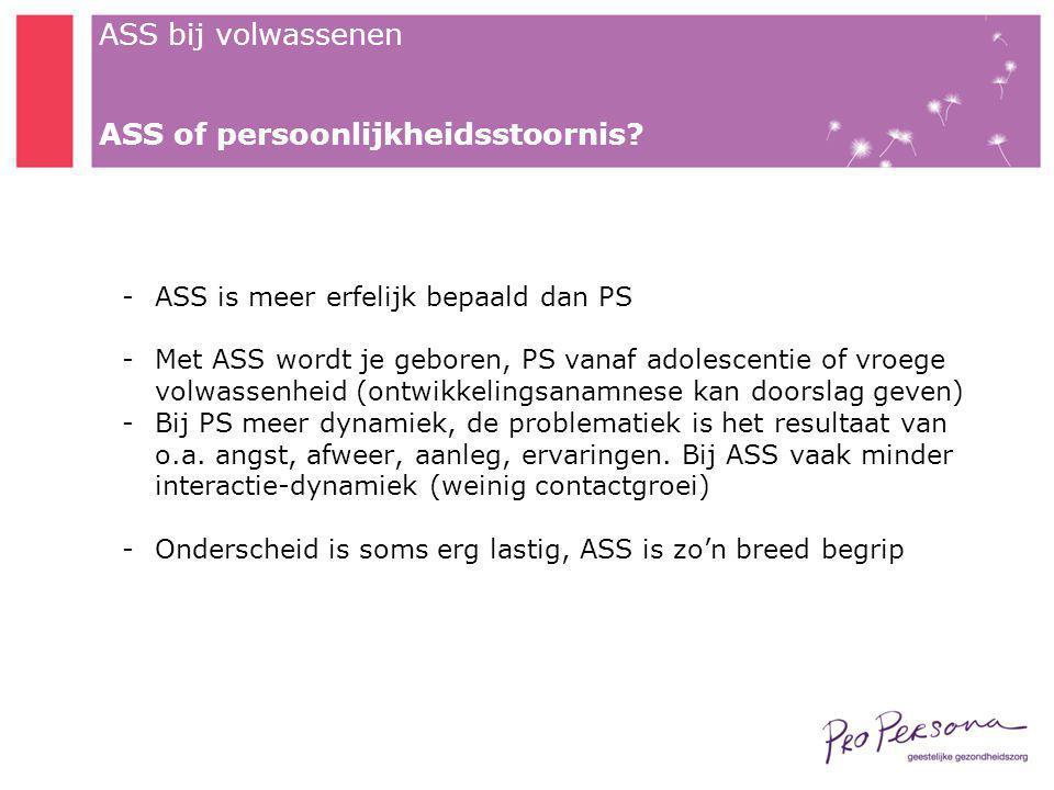 ASS of persoonlijkheidsstoornis