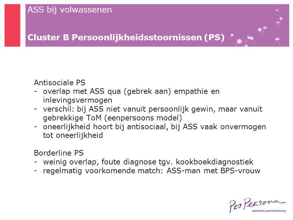 Cluster B Persoonlijkheidsstoornissen (PS)