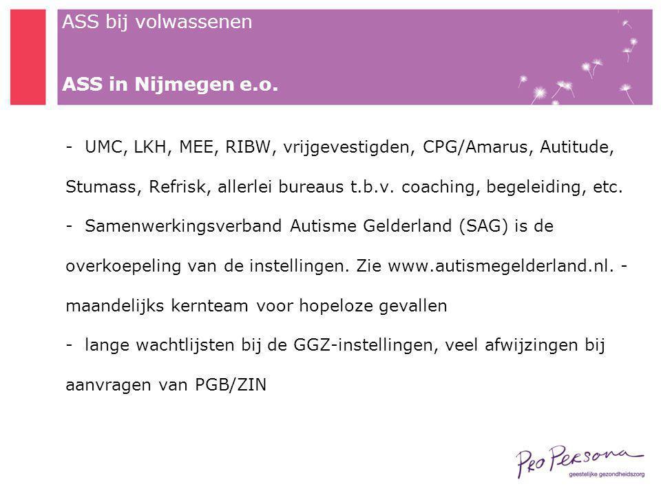 ASS in Nijmegen e.o.