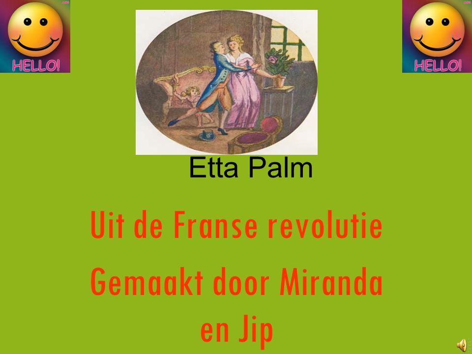 Uit de Franse revolutie Gemaakt door Miranda en Jip