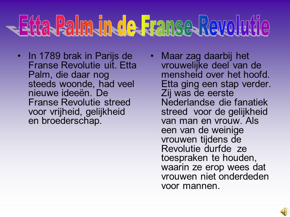 Etta Palm in de Franse Revolutie