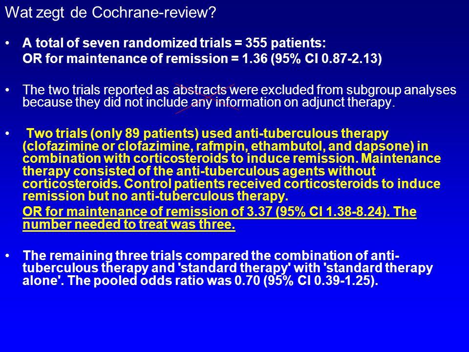 Wat zegt de Cochrane-review