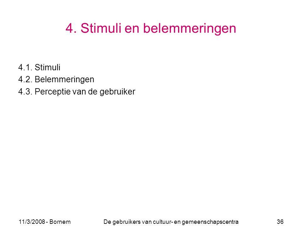 4. Stimuli en belemmeringen