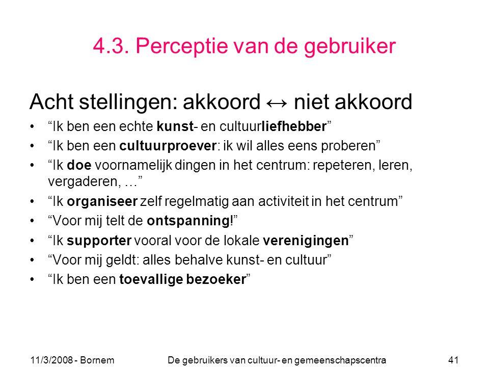 4.3. Perceptie van de gebruiker