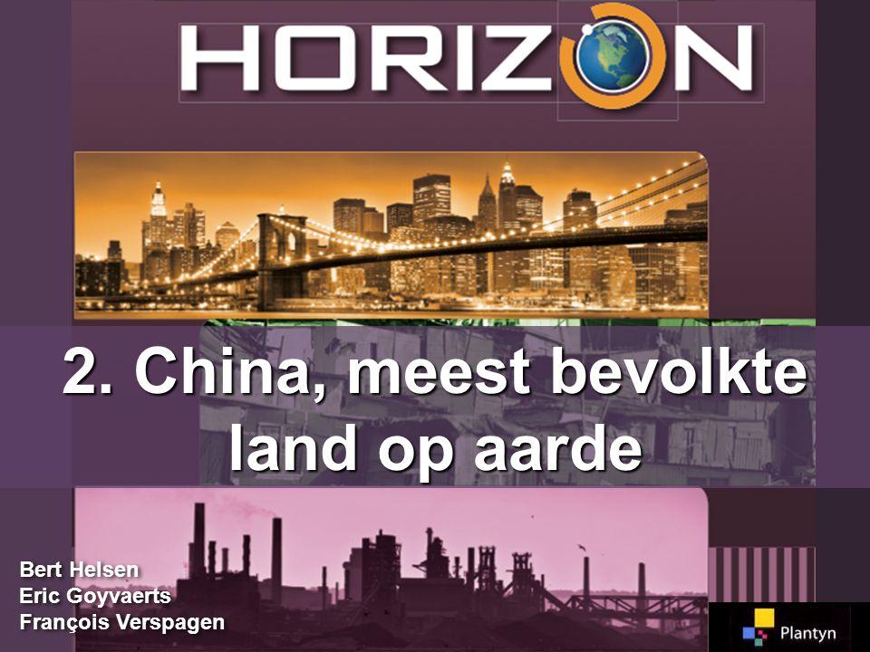 2. China, meest bevolkte land op aarde