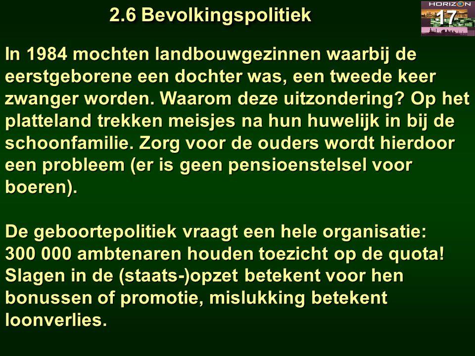 2.6 Bevolkingspolitiek 17.