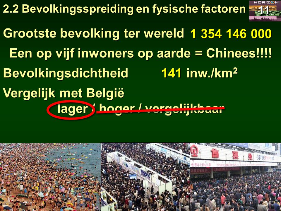 Grootste bevolking ter wereld 1 354 146 000
