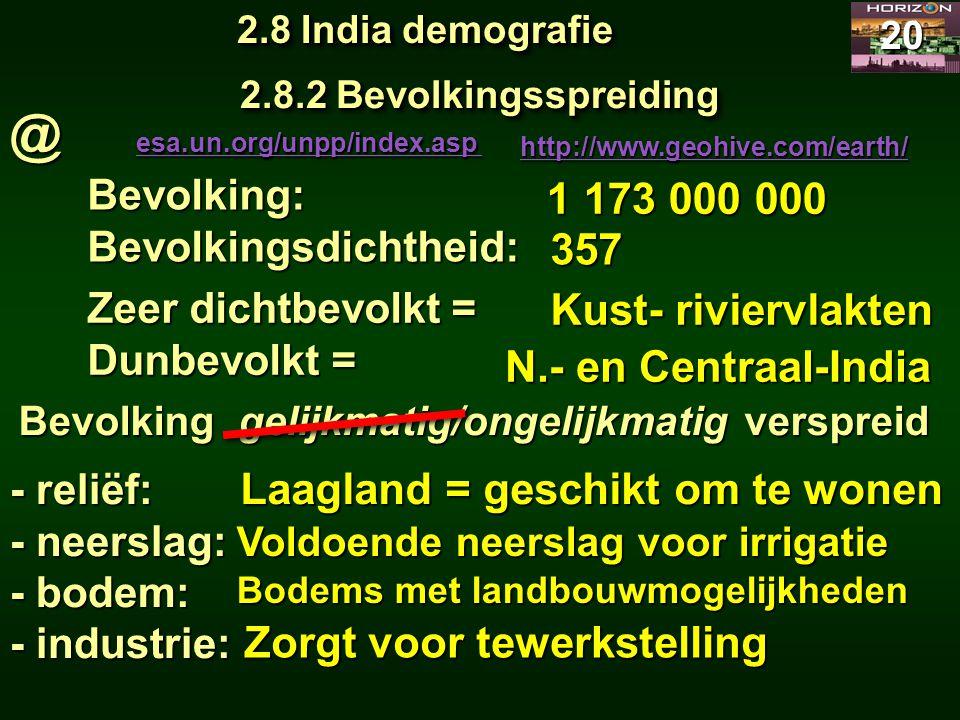 Bevolking gelijkmatig/ongelijkmatig verspreid