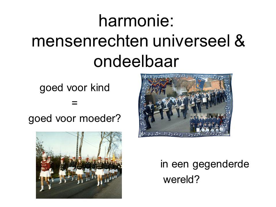 harmonie: mensenrechten universeel & ondeelbaar