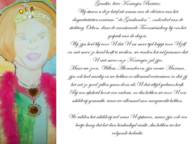 Geachte, lieve Koningin Beatrix,