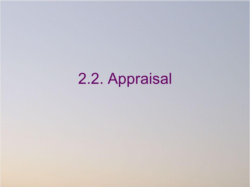 2.2. Appraisal In het volgende deel stel ik de evaluatie van onze voorlopige resultaten voor.