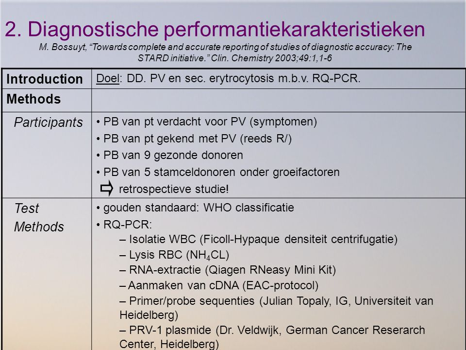 2. Diagnostische performantiekarakteristieken