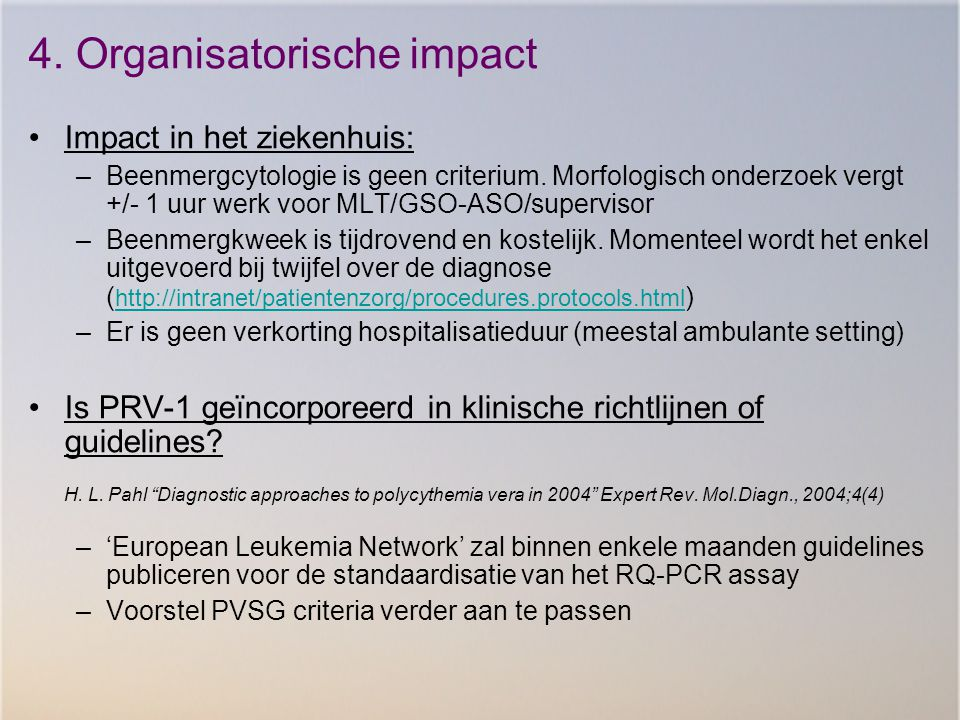 4. Organisatorische impact