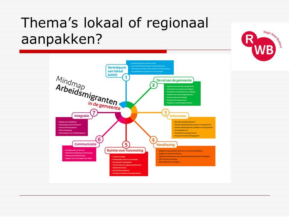 Thema's lokaal of regionaal aanpakken