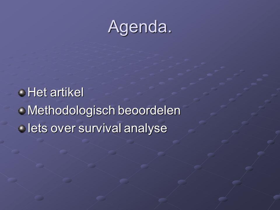 Agenda. Het artikel Methodologisch beoordelen