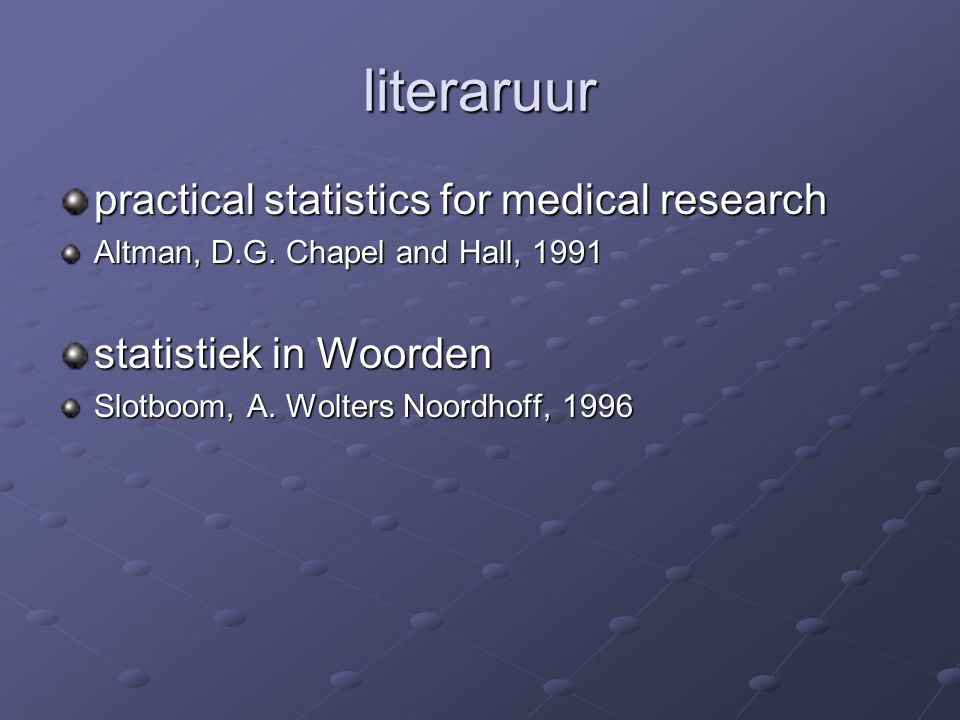 literaruur practical statistics for medical research