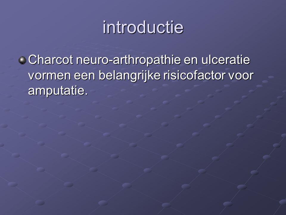 introductie Charcot neuro-arthropathie en ulceratie vormen een belangrijke risicofactor voor amputatie.