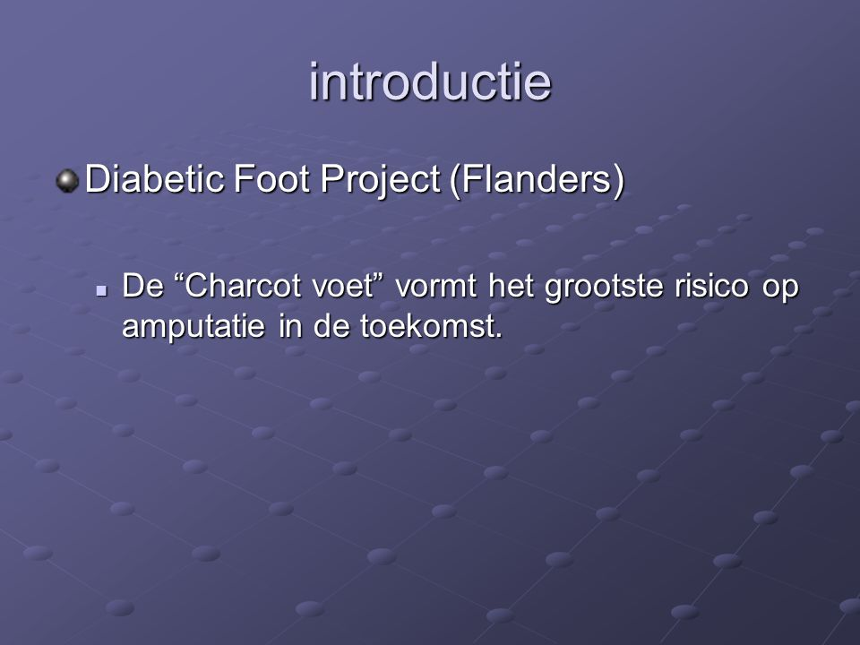 introductie Diabetic Foot Project (Flanders)