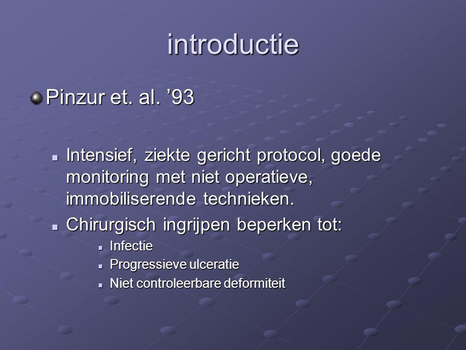introductie Pinzur et. al. '93