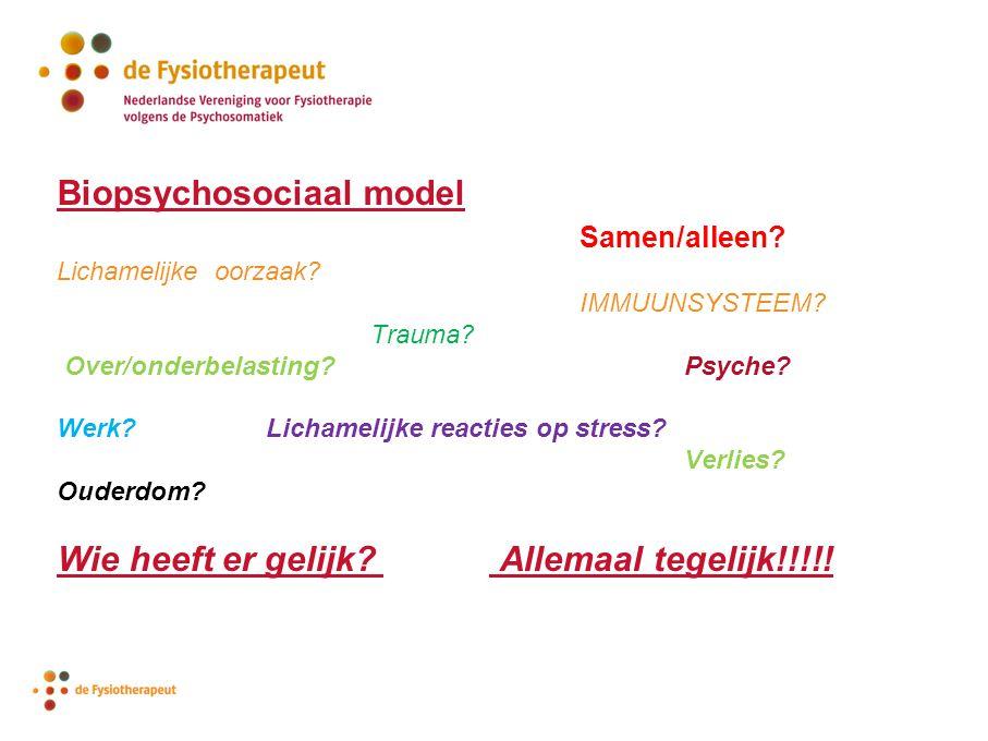 Biopsychosociaal model Samen/alleen