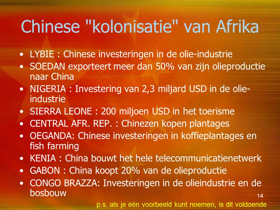 Chinese kolonisatie van Afrika