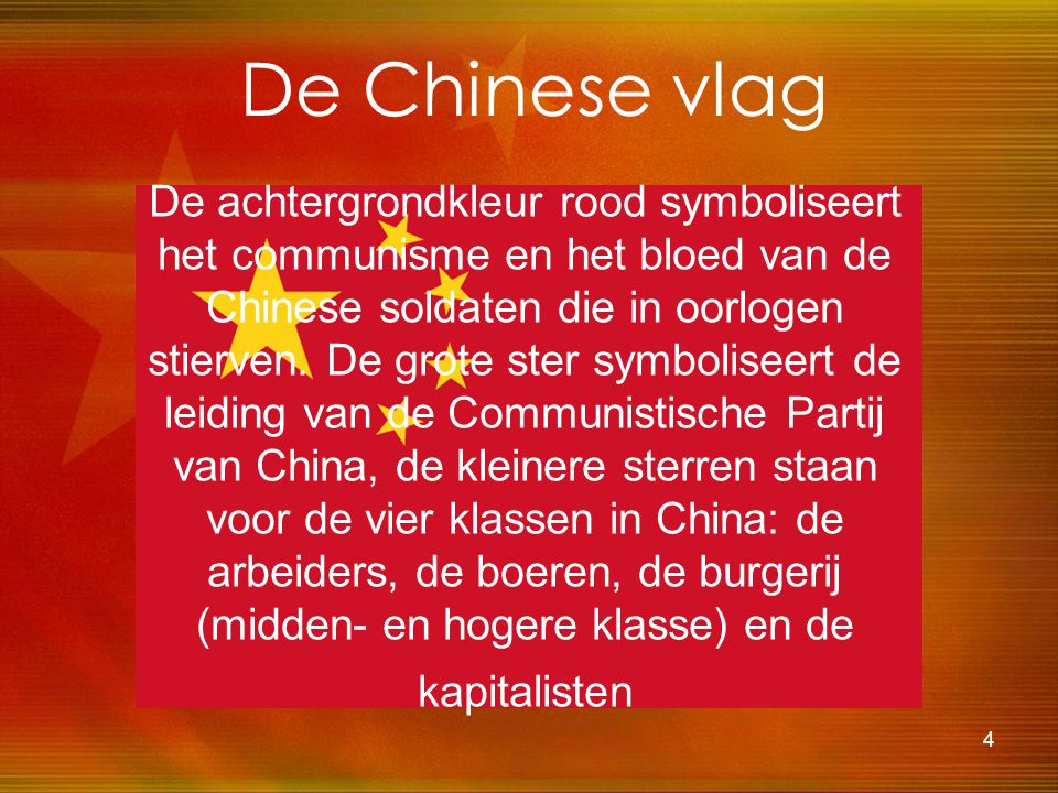De Chinese vlag
