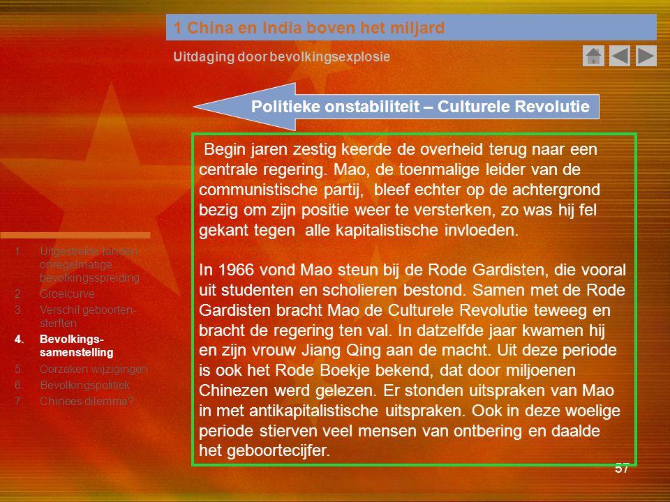 Politieke onstabiliteit – Culturele Revolutie