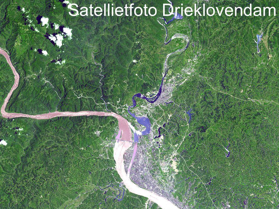 Satellietfoto Drieklovendam