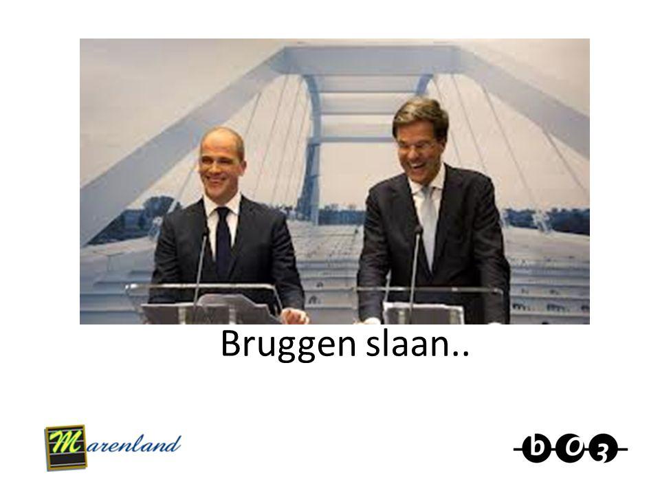Bruggen slaan..