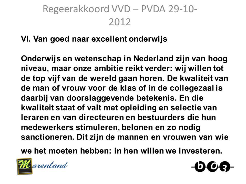 Regeerakkoord VVD – PVDA 29-10-2012