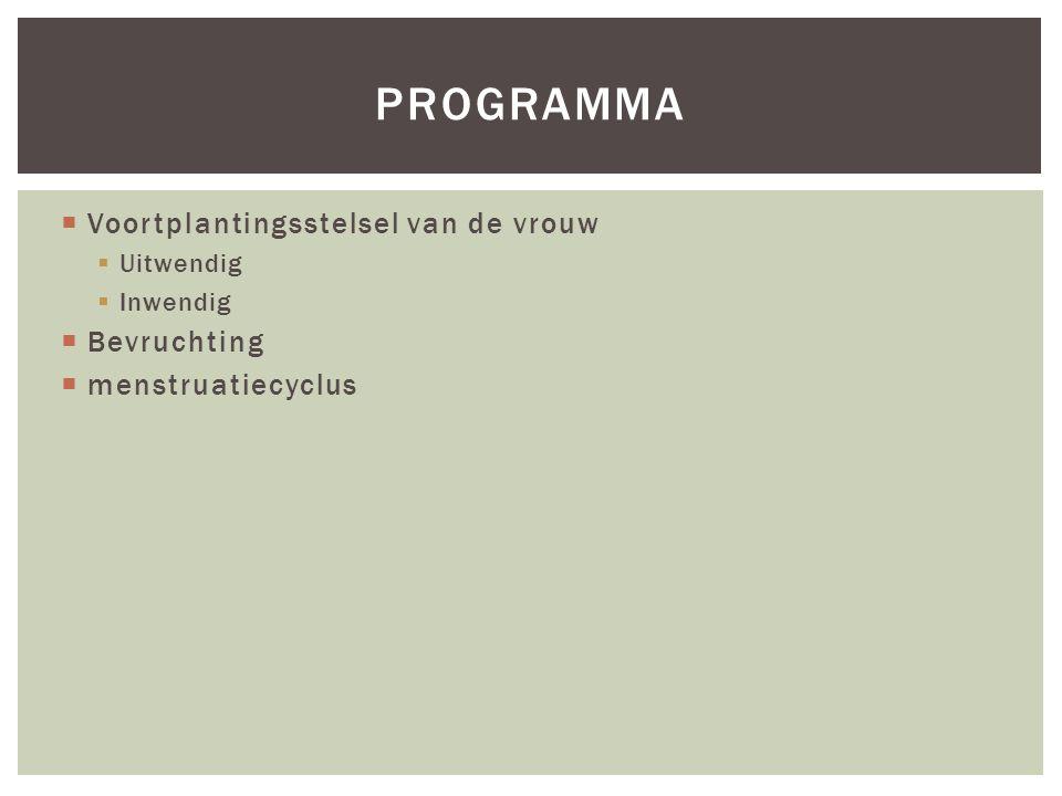 programma Voortplantingsstelsel van de vrouw Bevruchting