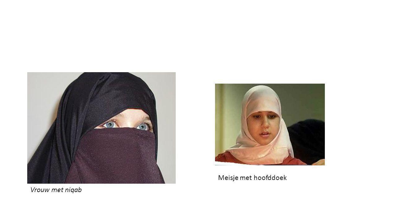 Meisje met hoofddoek Vrouw met niqab